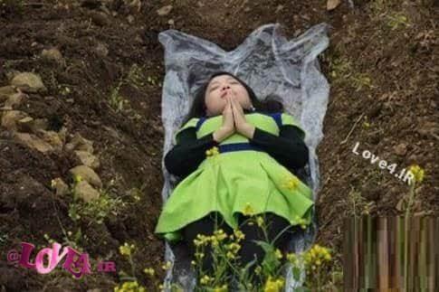 خوابیدن در قبر برای آرامش پس از جدایی از همسر