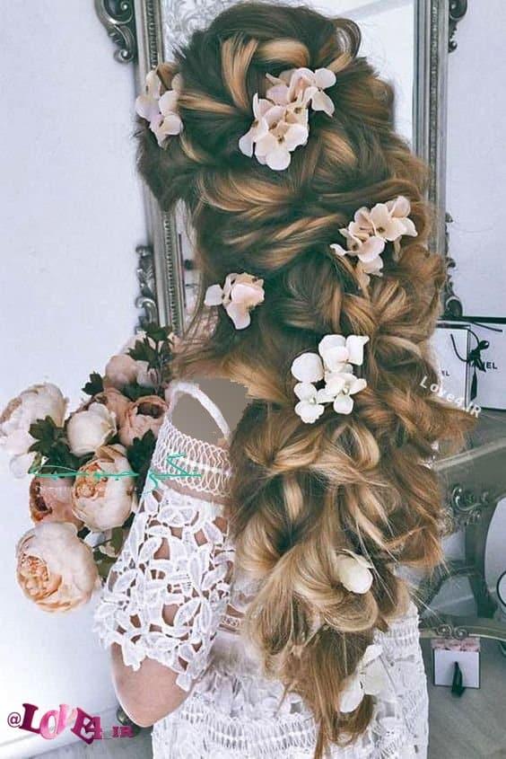 شنیون عروس , جدیدترین مدل شینیون , شینیون باز عروس