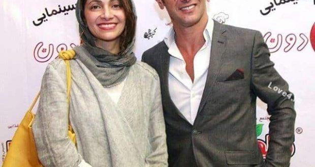 امین حیایی در کنار همسرش نیلوفر خوش خلق,عکس امین حیایی,همسر امین حیایی,تصاویر هنرمندان