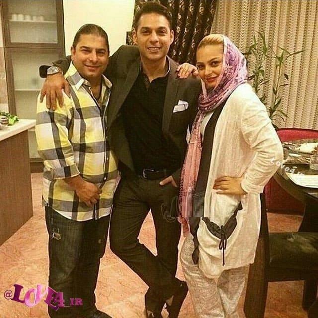 عکسهای خانوادگی پیمان معادی با خواهر برادر همسر و فرزندش نوروز 96