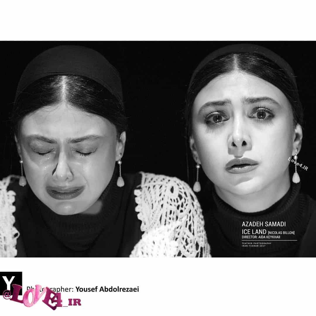 عکس جدید آزاده صمدی در نمایش تئاتر آیسلند