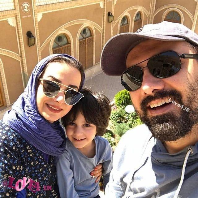 برزو ارجمند همراه با خانواده در یزد,برزو ارجمند در سفر نوروزی به یزد