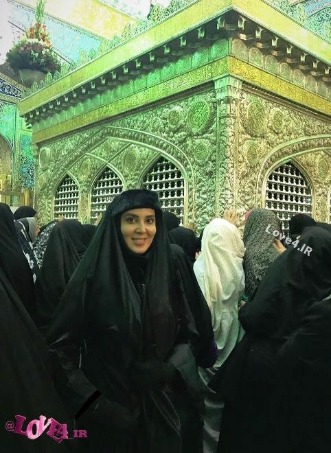 عکس جدید لیلا بلوکات در مشهد مقدس , عکس لیلا بلوکات با چادر