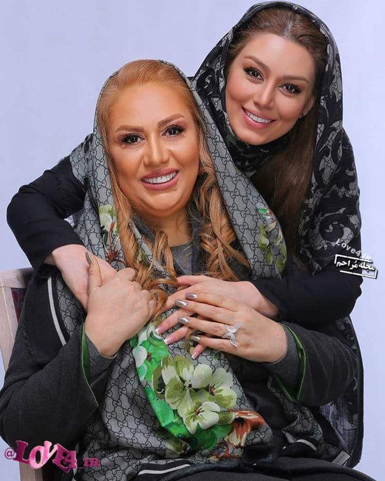 سحر قریشی و مادرش در سال 1396 +عکس