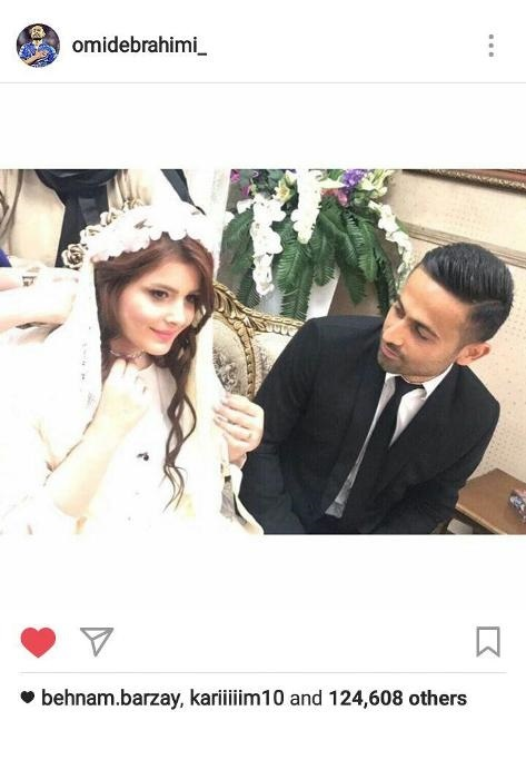 عکس مراسم عروسی امید ابراهیمی و باجناق شدندش با خسرو حیدری