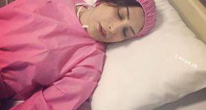 بازیگر زن جوان روی تخت بیمارستان/ بیماری سیما مطلبی چیست؟