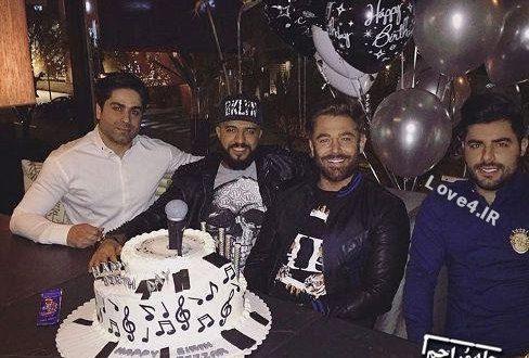 جشن تولد محمدرضا گلزار سن محمدرضا گلزار کیک تولد محمدرضا گلزار تصاویر هنرمندان