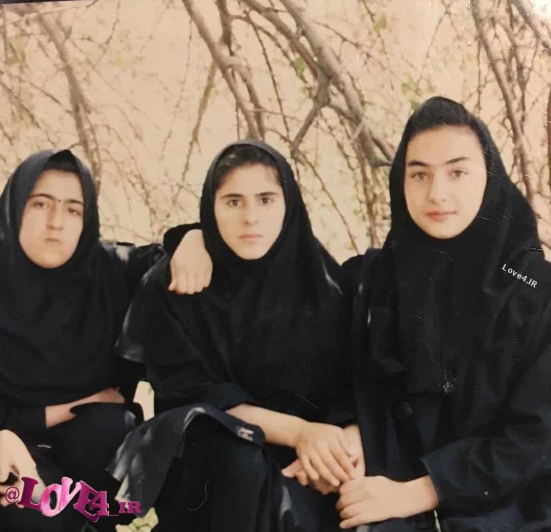 عکس هانیه توسلی در دوران دبیرستان