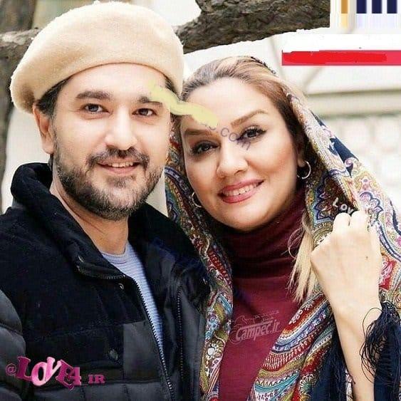 عکس امیرحسین مدرس مجری و بازیگر معروف در کنار همسرش