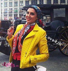 تیپ متفاوت خانم بازیگر در اروپا در تعطیلات نورورزی