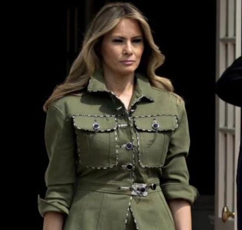 تیپ نظامی ملانیا ترامپ  همسر ترامپ جوگیر شد!