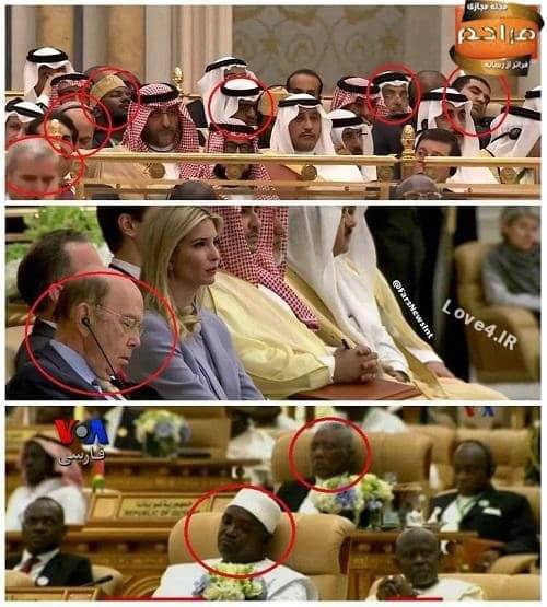 چرُت زدن سران اتحادیه عرب حین سخنرانی ترامپ +عکس