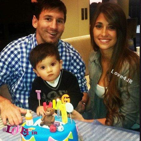 عکس های جدید لیونل مسی و همسر و فرزندش