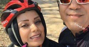دوچرخه سواری صبا راد و همسرش مانی رهنما در چیتگر +عکس