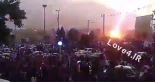 فیلم برخورد صاعقه به هواداران حسن روحانی