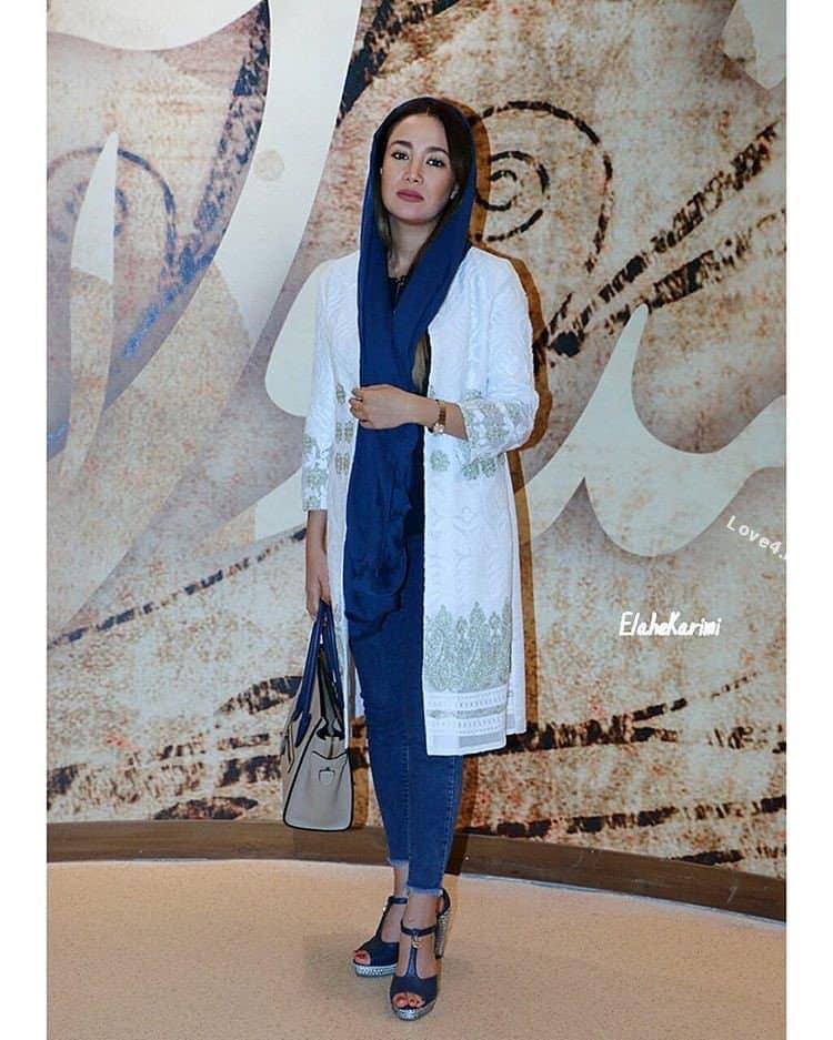 تیپ و مدل لباس بهاره افشاری در اکران فیلم گشت