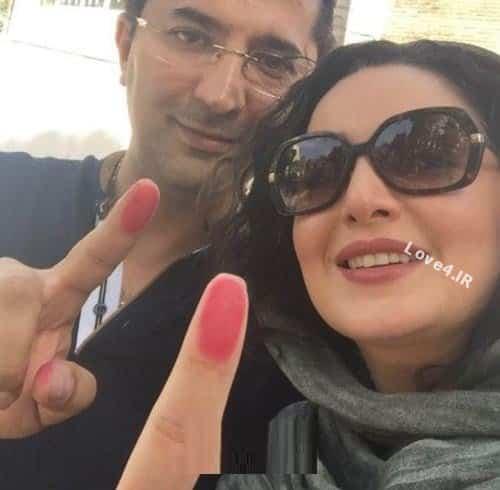 عکس شیلا خداداد و هسرش بعد از دادن رای در انتخابات 96