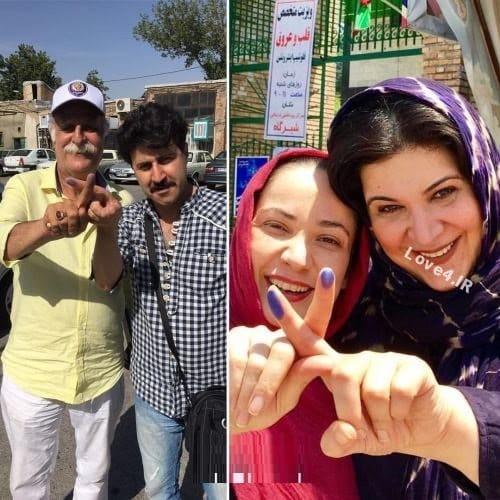 رای دادن بازیگران و عوامل سریال پایتخت +عکس
