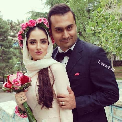 عکس هانیه غلامی و شوهرش در مراسم عقد +اینستاگرام