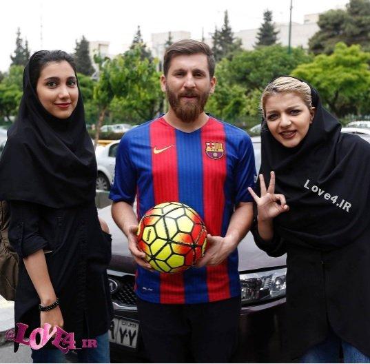 سلفی دختران ایرانی با لیونل مسی