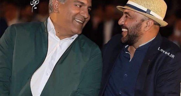ژست جالب رضا عطاران و مهران مدیری در اکران فیلم نهنگ عنبر۲