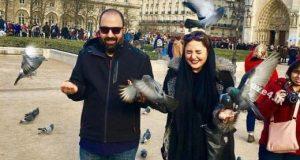 خوشگذارنی نرگس محمدی و علی اوجی بعد از ازدواج