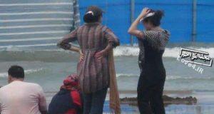 فیلم برخورد پلیس با زنان بی حجاب در سواحل