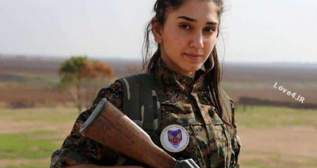 تصاویر دختران و زنانی که برای نبرد با تکفیری های داعش تعلیم می بینند