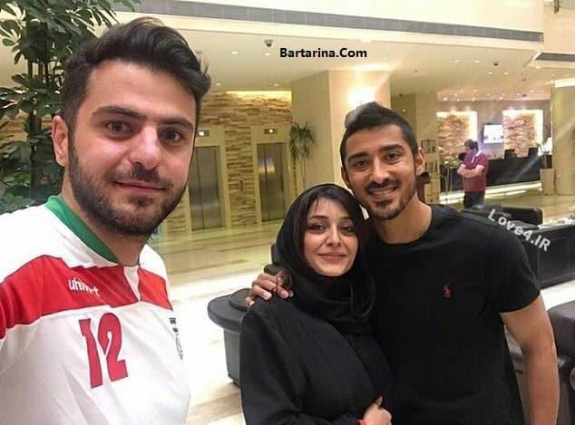 ساره بیات در بغل رضا قوچان نژاد + عکس و فیلم