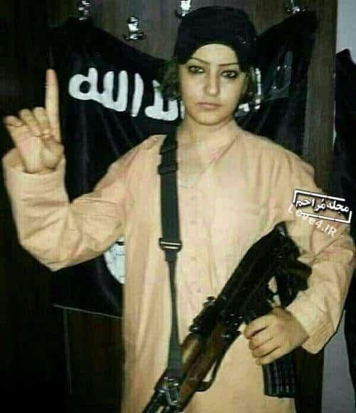 عکس زن داعشی که در تهران دستگیر شد