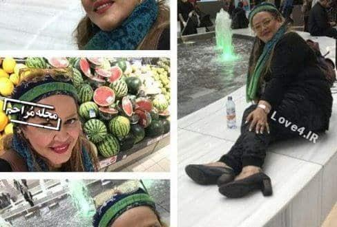 تیپ و ژست بهاره رهنما در سوئد