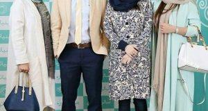 تیپ و مدل لباس ترانه علیدوستی کنار پدرش در افتتاحیه سالن زیبایی
