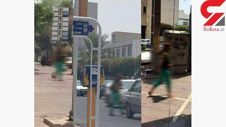 زن بی حجاب که خیابان های بوشهر را به هم ریخته بود دستگیر شد +عکس