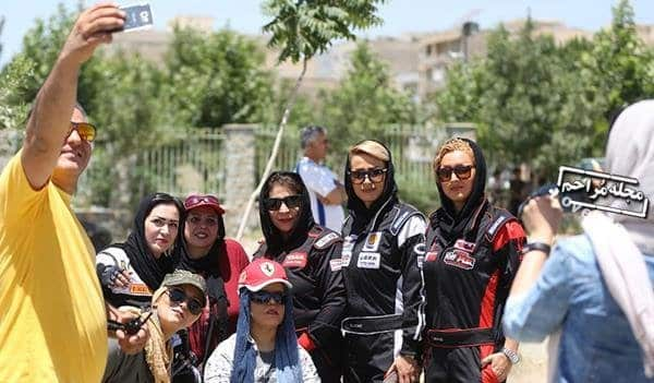 تصاویر زنان و دختران رالی ایران  مسابقه رالی دختران در کرج