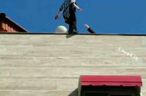 فیلم خودکشی دختر 18 ساله از بالای ساختمان