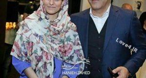 مهران مدیری و دخترش شهرزاد در اکران فیلم ساعت ۵ عصر
