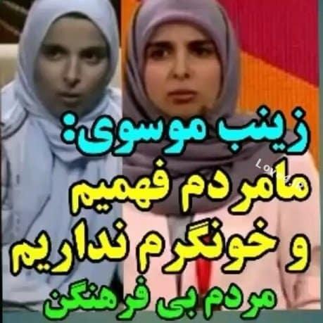توهین زینب موسوی به مردم ایران و واکنش کاربران +فیلم