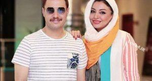 تیپ مه لقا باقری و همسرش جواد عزتی در جشن فیلم آینه بغل