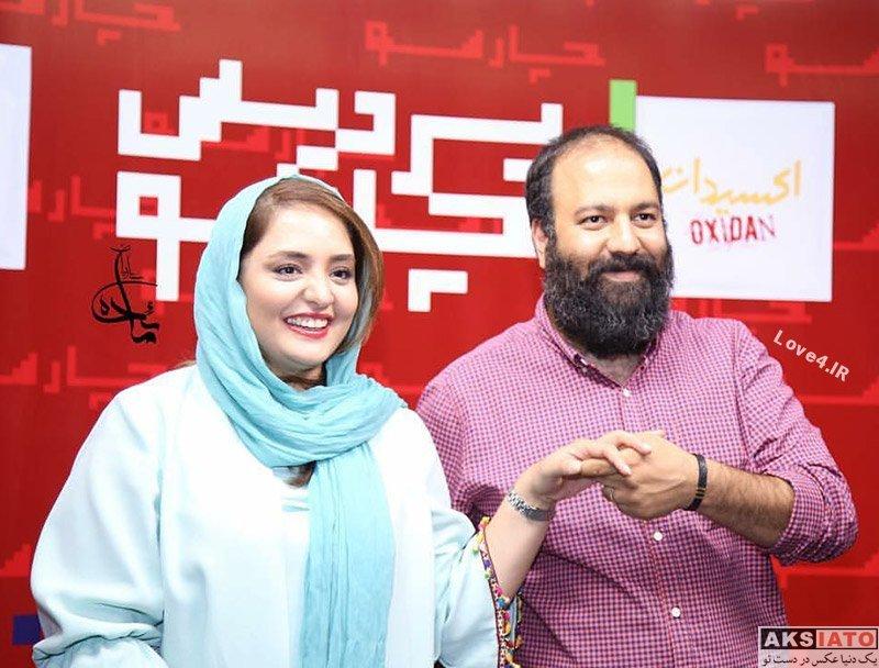 تصاویر نرگس محمدی و همسرش علی اوجی در اکران فیلم اکسیدان