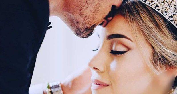 بوسه عاشقانه رضا قوچان نژاد بر پیشانی همسرش سروین بیات