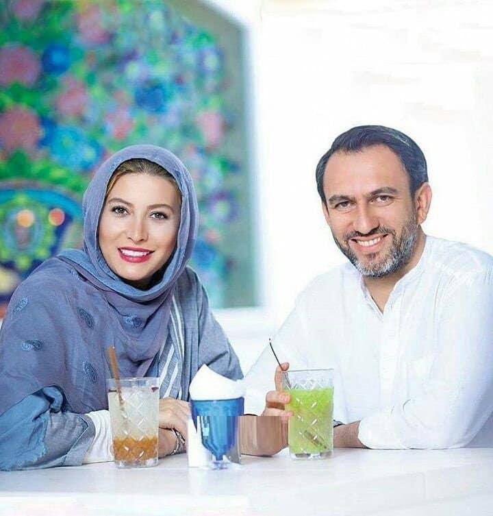 عکس جالب فریبا نادری کنار همسرش