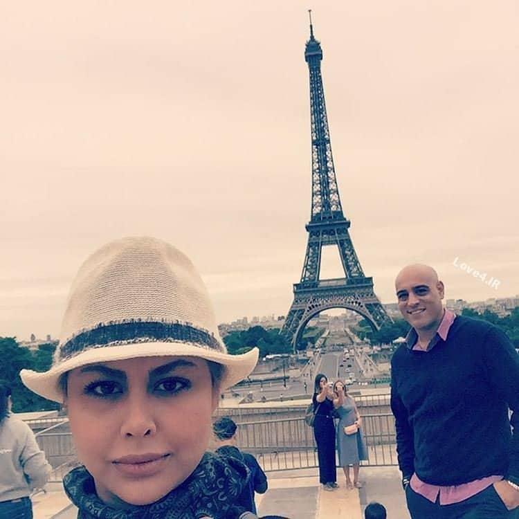 خوشگذرانی یاسمینا باهر و همسرش در فرانسه