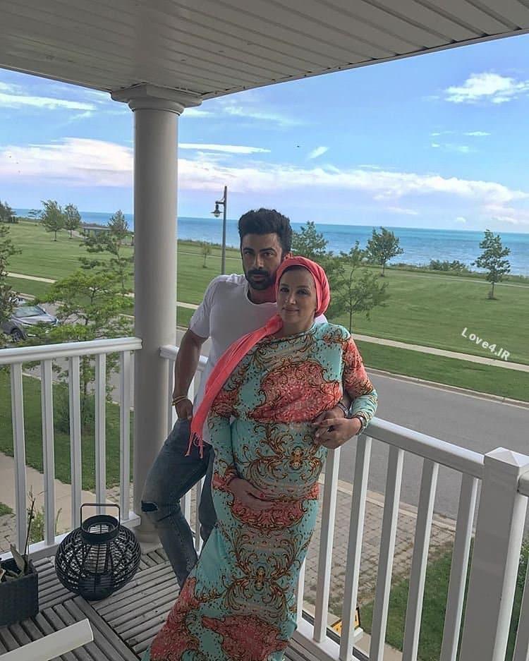 خوشگذرانی روناک یونسی در دوران بارداری با همسرش در کانادا