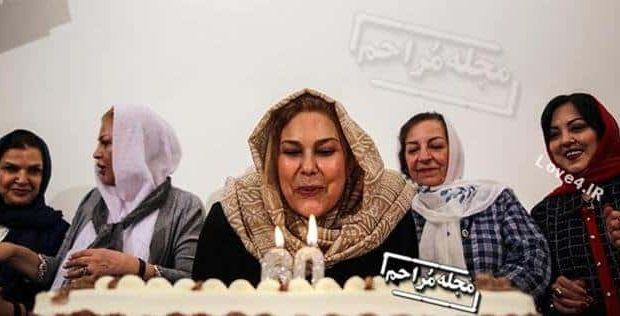 مهرانه مهین ترابی در جشن تولد ۶۰ سالگی