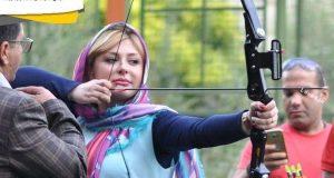 عکس نیوشا ضیغمی در مسابقات تیراندازی با کمان