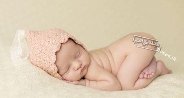 انواع مدلهای خوابیدن نوزادان +عکس