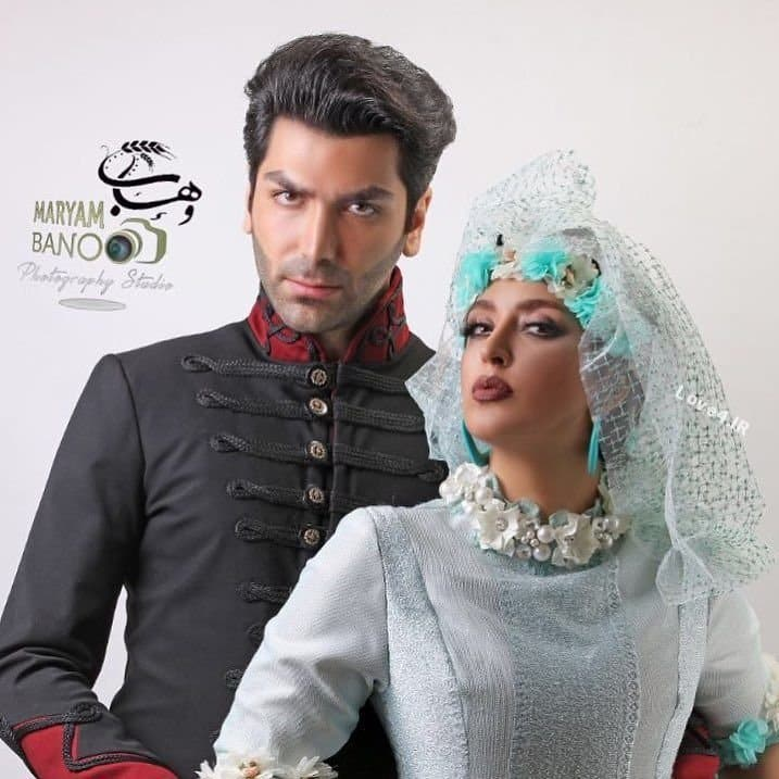 عکس عروسی فریبا طالبی کنار همسرش
