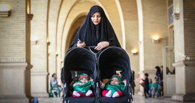 مراسم شیر خوارگان حسینی در مصلی تهران