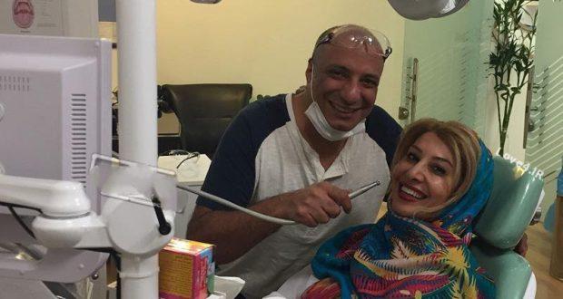 عکس جنجالی سوپر استار ایرانی با خانم دندانپزشک