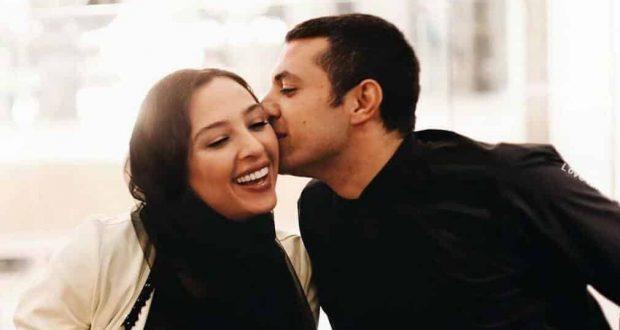 بوسه جنجالی اشکان خطیبی بر همسرش